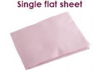 Pink Single Flat Flannelette Sheet
