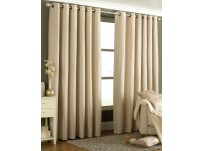 "Tobago Natural Eyelet Curtains 66x72""/168x183cm"
