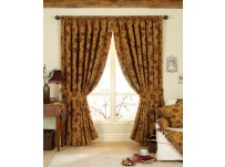 "Zurich Gold Tapestry Design Curtains 90x90"" / 230x230cm"