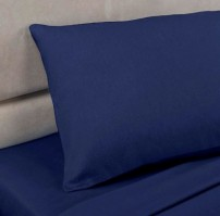 Navy Polycotton Percale Oxford Pillowcase