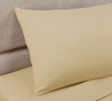 Biscuit Polycotton Percale Housewife Pillowcase (pair)