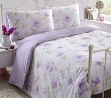 Alba Lilac Duvet Cover Set, Double
