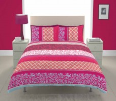 Orinoco Multi Coloured Chintz Duvet Cover Set, Single