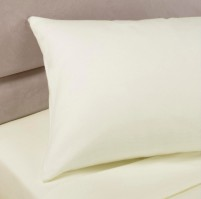 Ivory Polycotton Percale Housewife Pillowcase (pair)