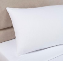 White Single Bolster Pillowcase