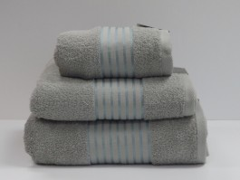 Windsor Silver Egyptian Cotton Bath Towel