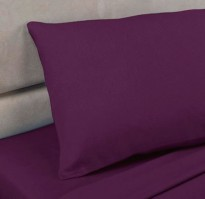 Aubergine Polycotton Percale Housewife Pillowcase (pair)