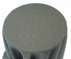 Vienna Round Black Tablecloth 150cm