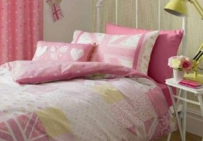 Vintage Britannia Pink Complete Boudoir Cushion 