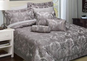 Carrington Pewter Double Comforter