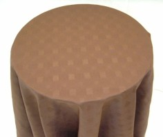 Vienna Round Chocolate Tablecloth 178cm