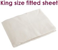 Cream king size fitted flannelette sheets