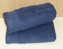 Luxury Egyptian Cotton Denim Blue Bath Mat