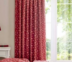 "Etta Wine Pencil Pleat Curtains - 66x72""/168x183cm"