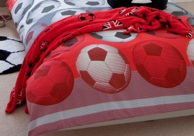 Football Red Fleece Throw