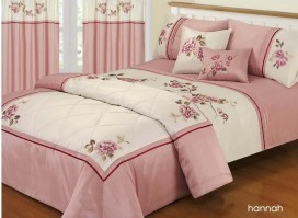 Hannah Pink Duvet Cover Set, Super King
