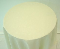 Vienna Round Ivory Tablecloth 178cm
