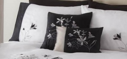 Jessica Black & Silver Cushion Cover 45cm