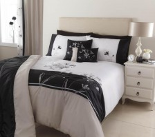 Jessica Black & Silver Duvet Cover Set - Single