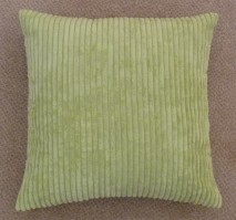 "Jumbo Cord Cushion Cover Lime 17""/43cm"
