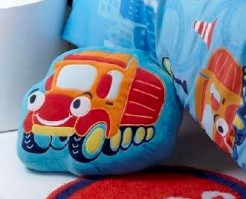 Transport Truck Shaped Complete Cushion 
