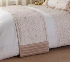 Lois Natural &amp; Cream Bed Runner 