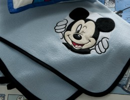 Mickey Mouse Comic Strip Fleece Throw