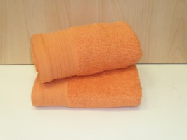 Luxury Egyptian Cotton Tangerine Bath Sheet 100 x 150cm