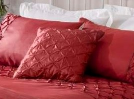 Scrunch Red Cushion Cover 43x43cm