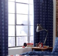 "Stars & Stripes Tab Top Curtains 66x72""/168x183cm"