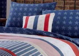 Stars &amp; Stripes - Striped Complete Cushion 