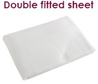 White double fitted flannelette sheets