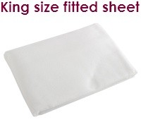 White king size fitted flannelette sheets