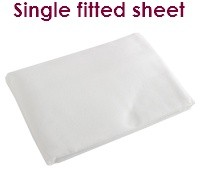 White single fitted flannelette sheets